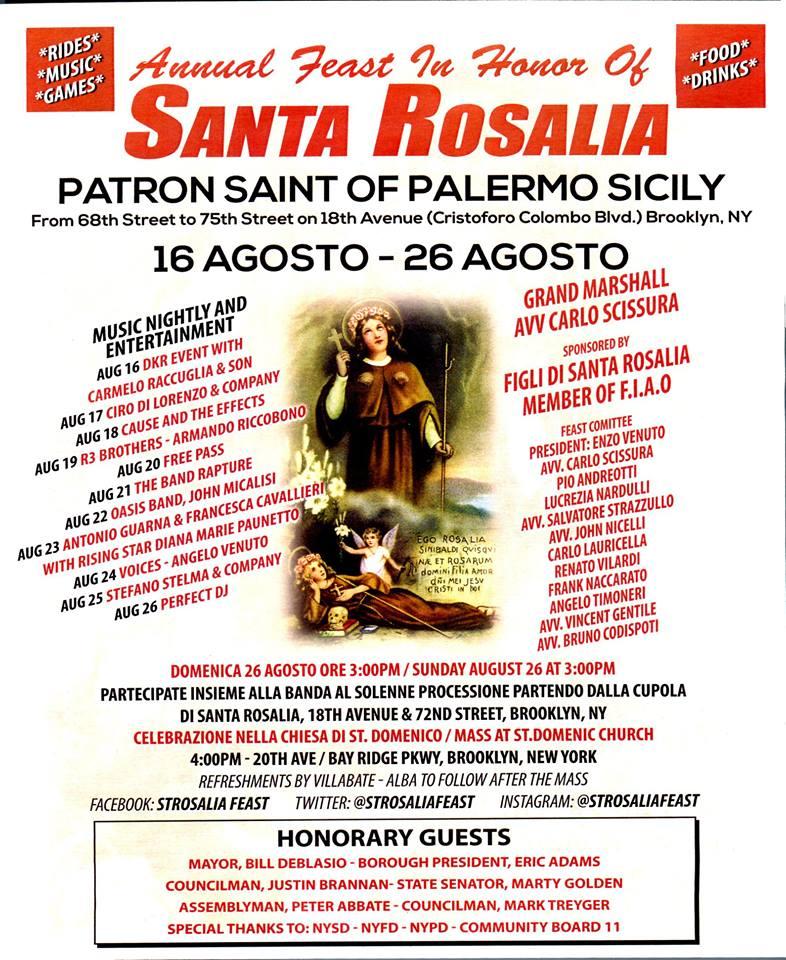 Santa rosalia festival palermo