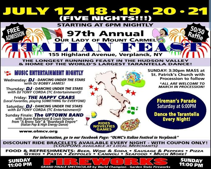 Our Lady of Mount Carmel Italian Feast 2019 – Verplanck, NY